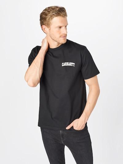 Carhartt WIP Tričko 'University Script' - čierna / biela: Pohľad spredu