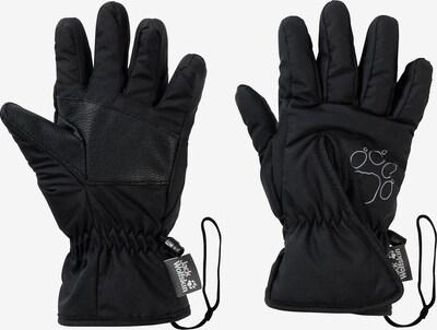 JACK WOLFSKIN Sporthandschuhe 'Easy Entry' in schwarz / weiß, Produktansicht