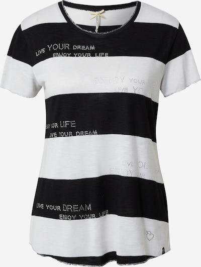 Tricou 'JESSY' Key Largo pe negru / alb murdar, Vizualizare produs