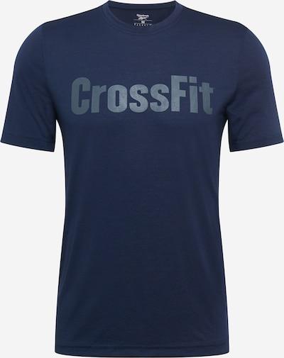 REEBOK Functioneel shirt in de kleur Nachtblauw / Zilver, Productweergave