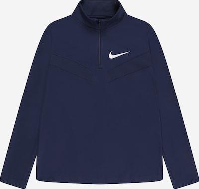 NIKE Sweat de sport en bleu marine / blanc, Vue avec produit