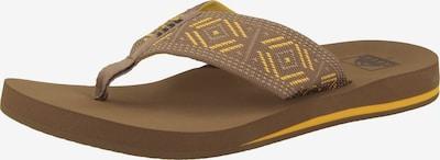REEF Claquettes / Tongs 'Spring Woven' en beige / marron / jaune, Vue avec produit