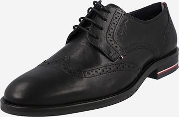 TOMMY HILFIGER Обувки с връзки в черно