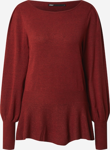 ONLY Pullover 'SANNALISA' in Rot