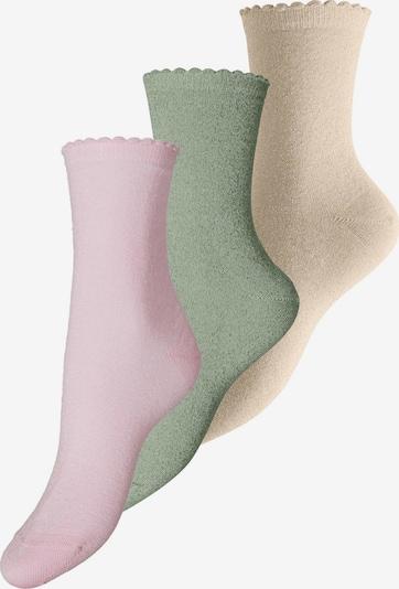 PIECES Sokken in de kleur Beige / Groen / Lichtroze, Productweergave