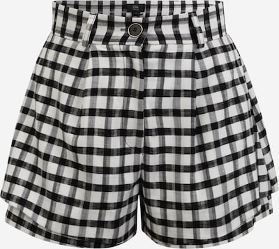 River Island Petite Pleat-Front Pants 'GINGHAM' in Black / White, Item view