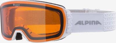 Alpina Sports Glasses 'ALPINA NAKISKA DH' in Light grey / Orange / White, Item view