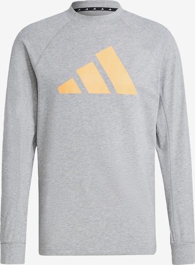 ADIDAS PERFORMANCE Functioneel shirt 'Lightweight' in de kleur Grijs gemêleerd / Sinaasappel / Zwart / Wit, Productweergave