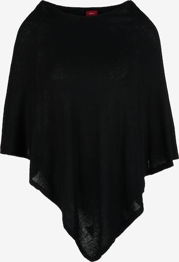 s.Oliver Poncho aus Feinstrick in schwarz, Produktansicht