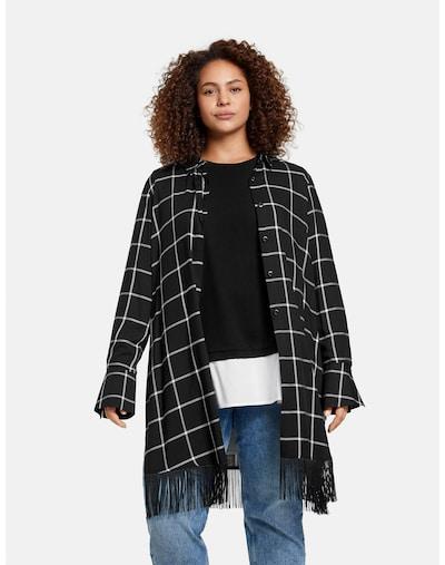 SAMOON Bluse in schwarz / weiß, Modelansicht