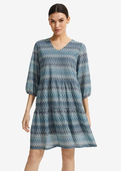 COMMA Lockeres Kleid aus Strukturstrick in blau / aqua / petrol, Modelansicht