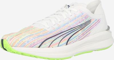 PUMA Skriešanas apavi 'Electrify Nitro', krāsa - zils / neonzaļš / sarkans / melns / balts, Preces skats