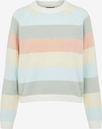 PIECES Pullover 'GYMMA' in hellblau / hellgelb / pastellgrün / pastellorange / weiß, Produktansicht