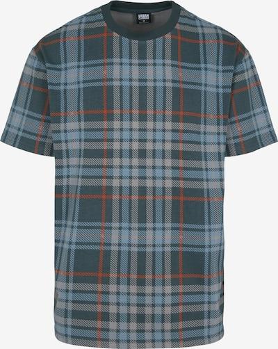 Urban Classics Shirt in de kleur Grijs / Donkergrijs / Grasgroen, Productweergave