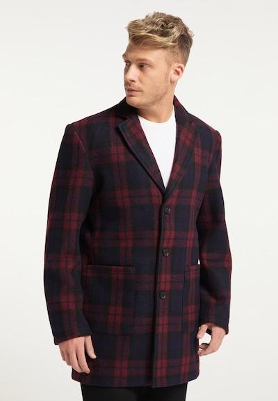 MO Prechodný kabát - námornícka modrá / tmavočervená, Model/-ka