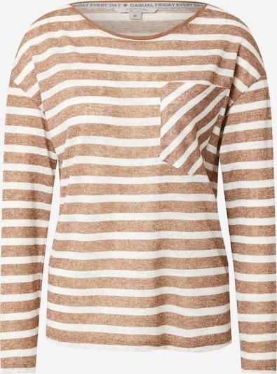 comma casual identity Camiseta en marrón moteado / blanco, Vista del producto