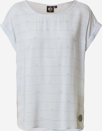 Tricou 'WINE OF LOVE' WLD pe albastru fumuriu / alb, Vizualizare produs
