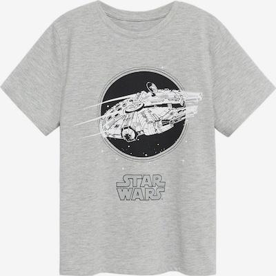 MANGO KIDS T-Shirt in grau / schwarz / weiß, Produktansicht