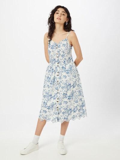 Rochie tip bluză 'Camelina' VILA pe albastru / alb, Vizualizare model