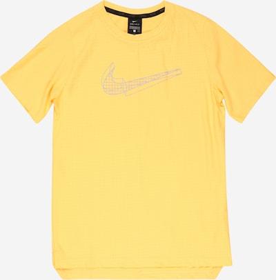 NIKE Sportshirt in gelb / senf / grau, Produktansicht