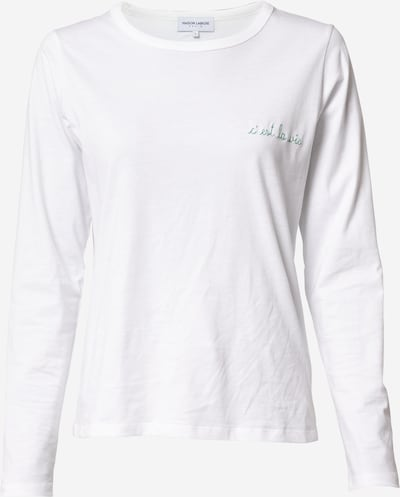 Maison Labiche T-Krekls 'Charlot', krāsa - zaļš / balts, Preces skats
