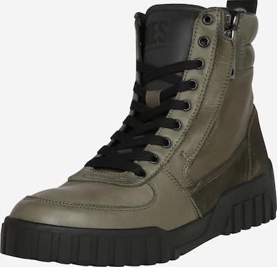 DIESEL Sneaker 'Rua' in oliv / schwarz, Produktansicht