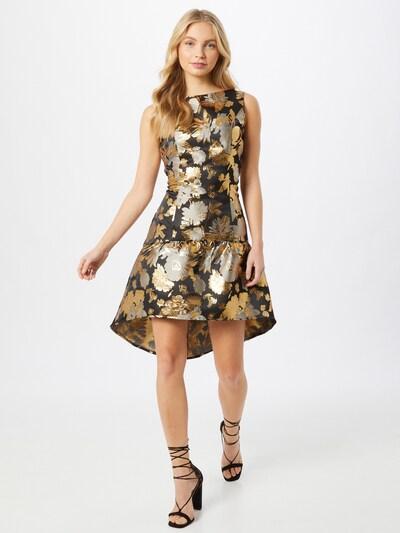 Chi Chi London Šaty 'Dania' - zlatá / striebornosivá / čierna, Model/-ka