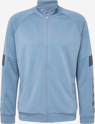 Hummel Sportsweatjacke 'ALEC' in rauchblau / schwarz, Produktansicht