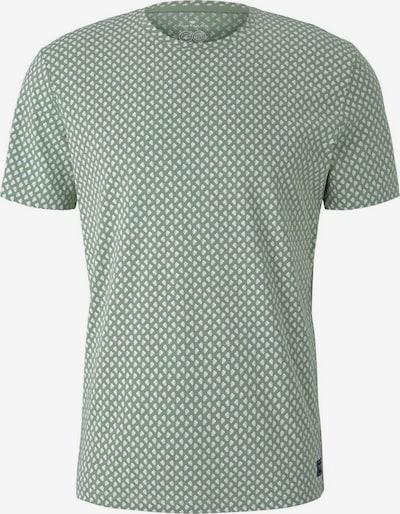 TOM TAILOR T-Shirt in grün / weiß, Produktansicht
