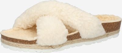 espadrij l´originale Pantolette 'Croisette' in wollweiß, Produktansicht