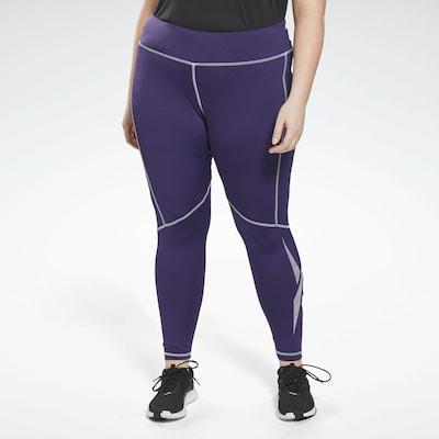 REEBOK Spodnie sportowe w kolorze fioletowym: Widok z przodu
