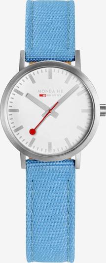 Mondaine Damen-Uhren Analog Quarz ' ' in himmelblau, Produktansicht