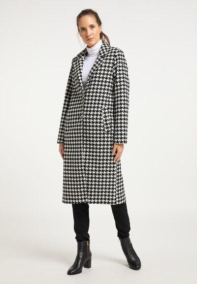 DreiMaster Vintage Wintermantel in de kleur Zwart / Wit, Modelweergave