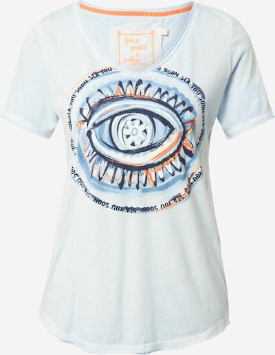 LIEBLINGSSTÜCK T-shirt 'Daje' en bleu clair / bleu foncé / orange, Vue avec produit