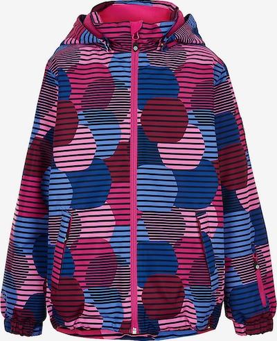 COLOR KIDS Sportjacke in blau / pink / burgunder, Produktansicht