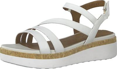 TAMARIS Greenstep Plateau-Sandaletten in weiß, Produktansicht