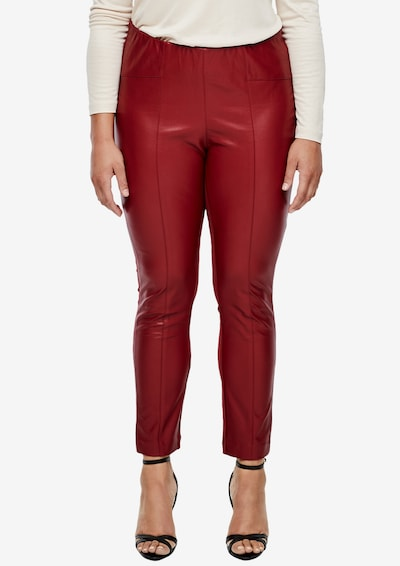 TRIANGLE Stretchleggings in rot, Modelansicht