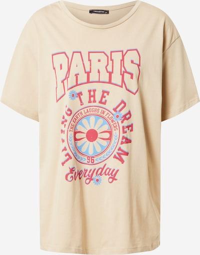 Trendyol T-Shirt in türkis / grau / himbeer, Produktansicht