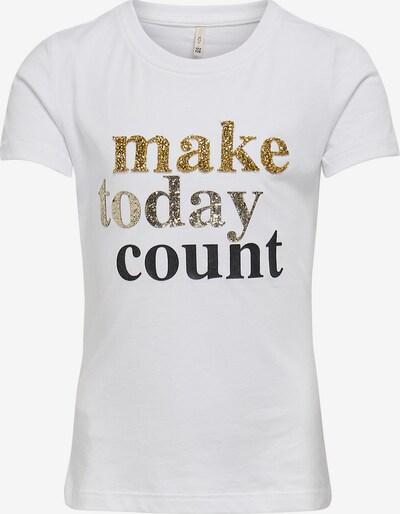 KIDS ONLY T-Shirt 'Kongita' in gold / schwarz / silber / weiß, Produktansicht