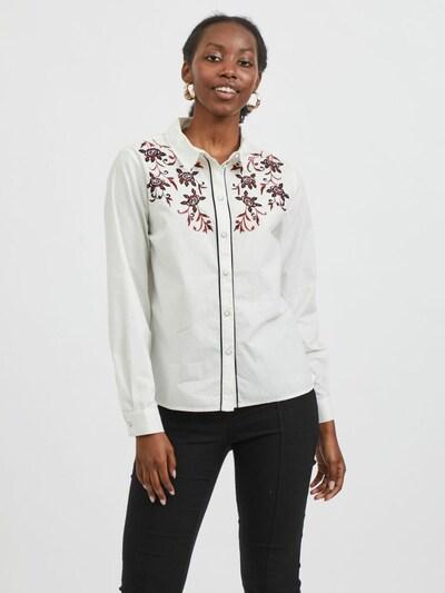 VILA Bluse in mischfarben / weiß, Modelansicht