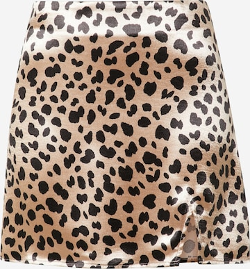 Gina Tricot Skirt 'Minky' in Brown