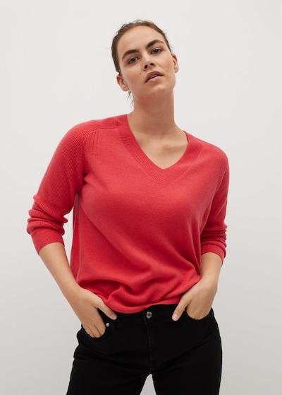 VIOLETA by Mango Pullover 'Cashlini' in rot, Modelansicht