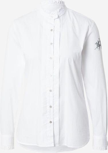 La Martina Blusa 'SWC003PP143' en gris oscuro / blanco, Vista del producto