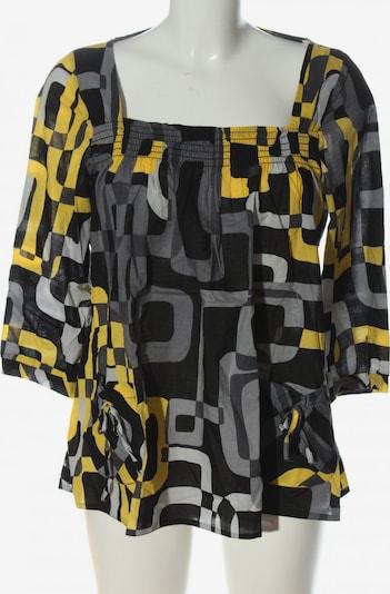 Cache Cache Langarm-Bluse in M in pastellgelb / hellgrau / schwarz, Produktansicht