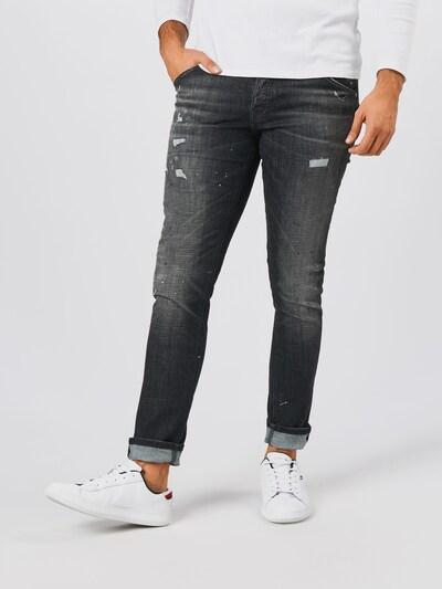JACK & JONES Jeans 'GLENN FOX' in black denim, Modelansicht