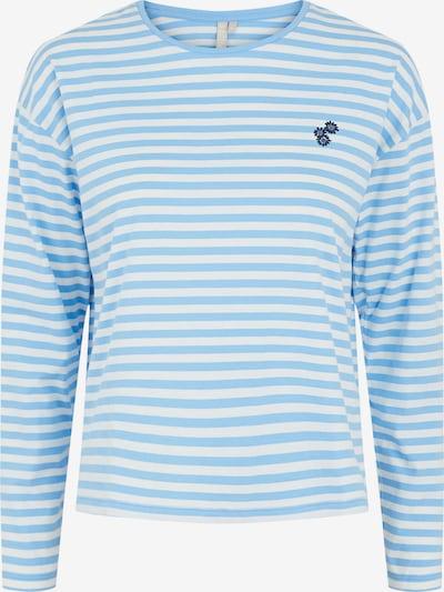 PIECES Shirt 'Gwendolyn' in de kleur Lichtblauw / Wit, Productweergave