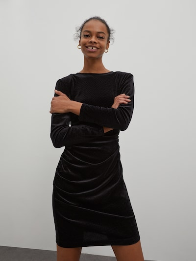 EDITED Kleid 'Agathe' in schwarz, Modelansicht