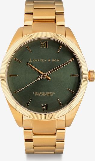 Kapten & Son Analogové hodinky 'Crush' - zlatá / tmavě zelená, Produkt
