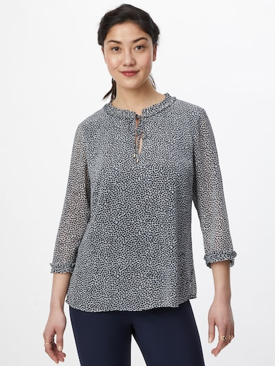 s.Oliver BLACK LABEL Blouse in de kleur Opaal / Donkerblauw, Modelweergave