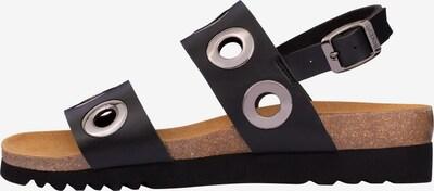 SCHOLL Sandale 'Lara' in silbergrau / schwarz, Produktansicht